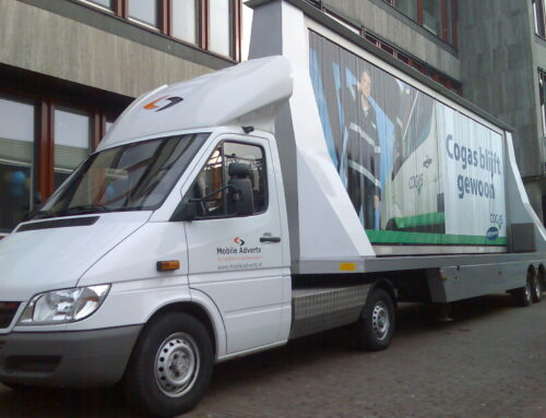 Mobiele reclame Cogas